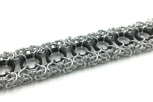 Dual Byzantine Bracelet, Border, 9 inches