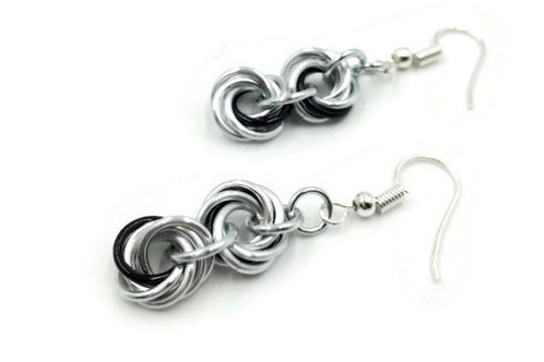 Double Mobius Earrings, Accents, Clip-ons