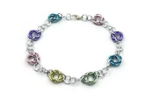 Linked Möbius Bracelet, Pastels ($12-$15)