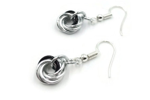 Single Mobius Earrings, Accents, Clip-ons