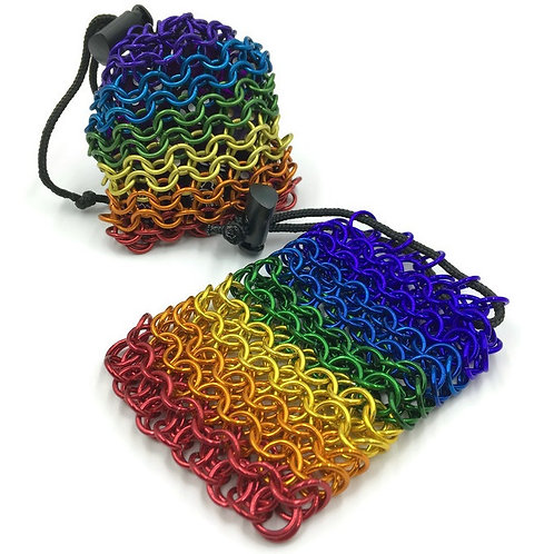 Dice Bag, Rainbow, Loose Weave