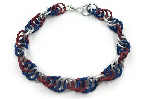 Spiral Bracelet, Patriotic ($12-$15)
