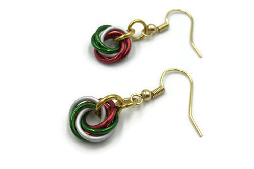 Single Mobius Earrings, Christmas ($5-$6)