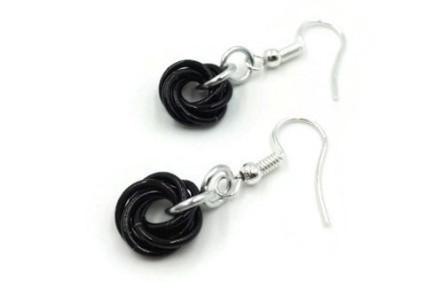 Single Mobius Earrings, Binary, Hypoallergenic Hooks