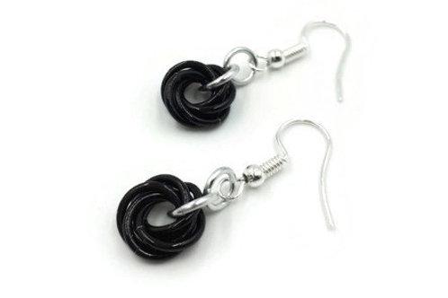 Single Mobius Earrings, Binary, Basic Hooks
