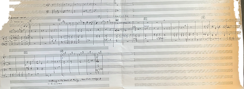 Handwritten full score of -A Distant Voice; In Memoriam 2001