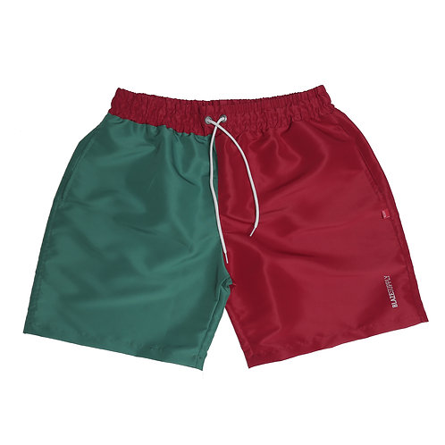 Shorts Bicolor Red Green