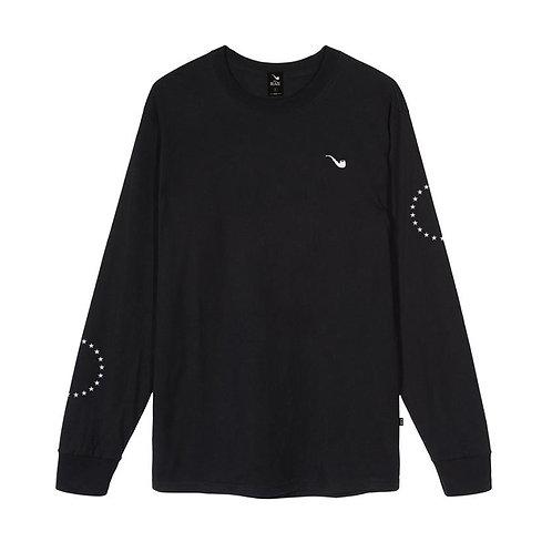 L/S Tee Star Circle Pipe Black