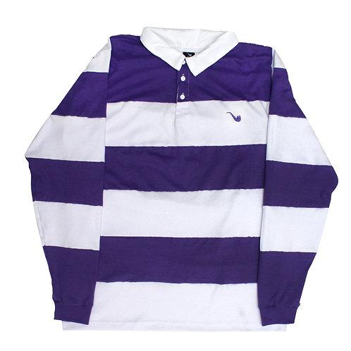Polo L / S Stripes Purple