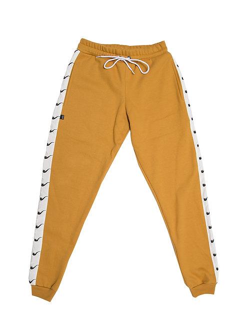 Sweat Pants Pipe Ribbon Mustard