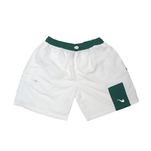 Shorts Trad White Green