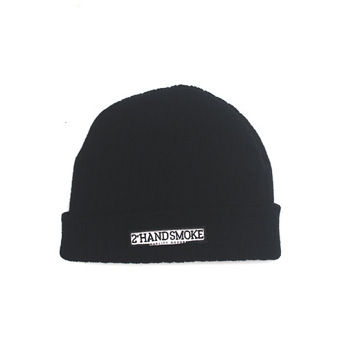 Beanie 2nd Logo Black