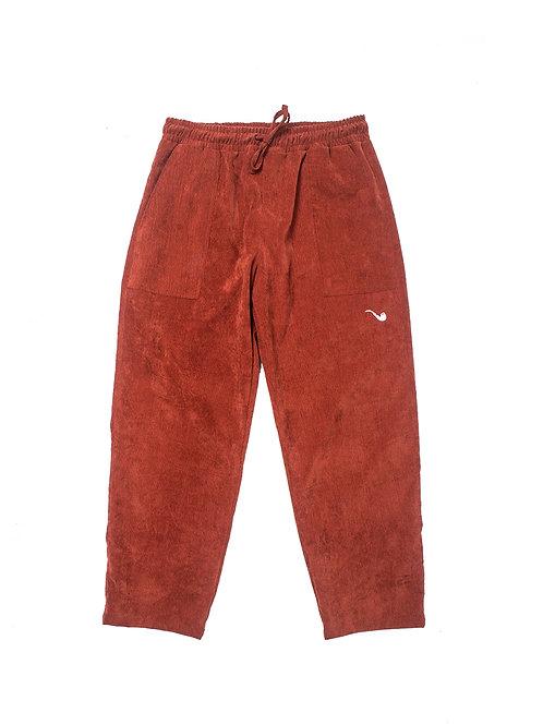 Velvet Pants Pipe Brown