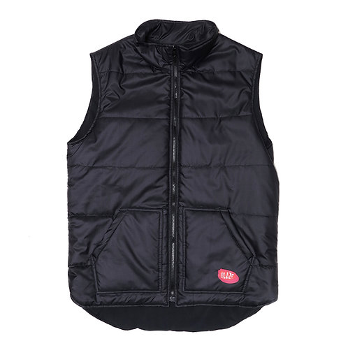 Zipper Vest Patch Black