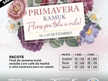 De 16 a 19 de setembro 2021, Primavera Kamuk - Flores pra toda a vida!