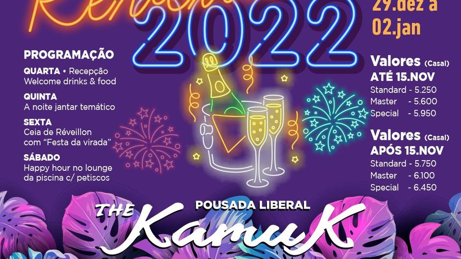 De 29/12 a 02 de Janeiro 2022, Réveillon 2022