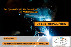 G&B_Konstruktionnsmechaniker_Wir suchen DICH !!! Wir haben den richtigen JOB für DICH !!! JETZT BEWE