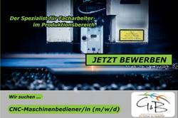 G&B_CNC-Maschinenbedienerin_Wir suchen DICH !!! Wir haben den richtigen JOB für DICH !!! JETZT BEWER
