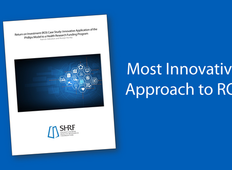 SHRF Wins International Award for Most Innovative Approach to ROI