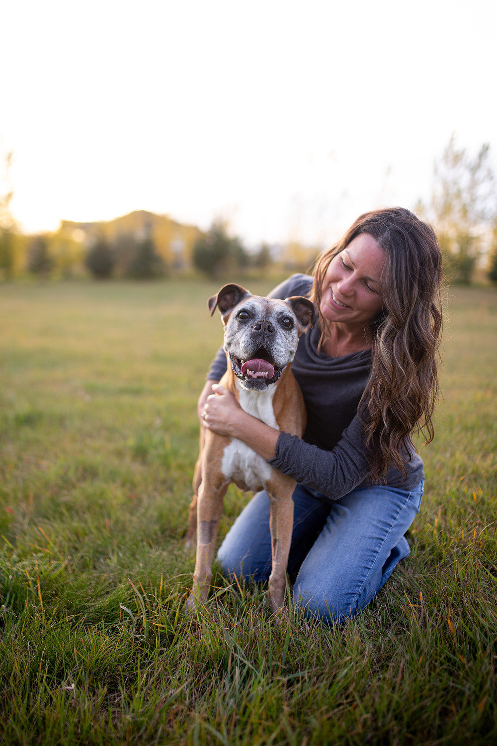 Dr. Colleen Dell and her dog Kisbey