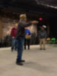 CPP actor rehearsing
