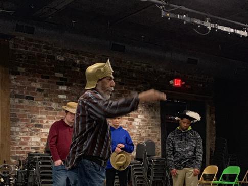 actor rehearsing