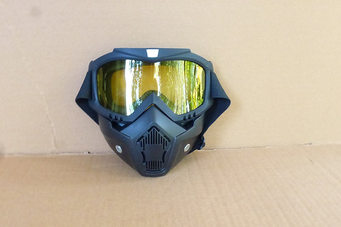 Black Protective Face Mask Front View