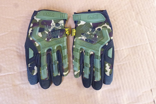 Camouflage Tactical Gloves Front View