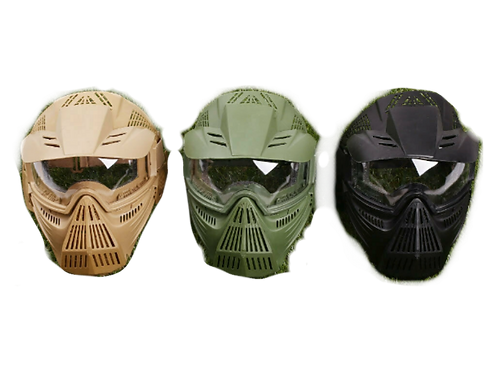 Protective Tactical Full Face Mask - Tan, Black or Green