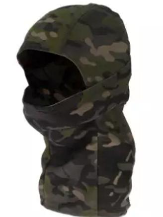 Full Face Balaclava Hood Outdoor Headgear - Jungle Green