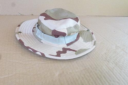 Camouflage Wide-Brim Hat