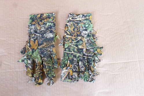 3D Camouflage Gloves Back View