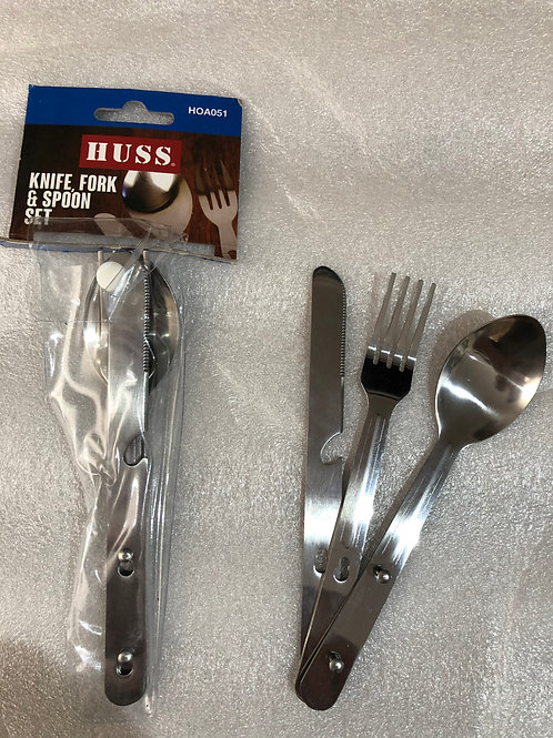 Huss Knife, fork and spoon set
