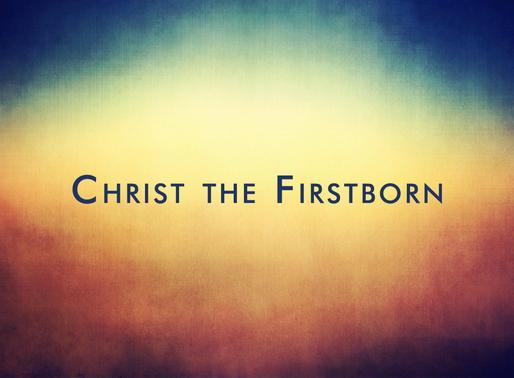 Jesus, the Firstborn