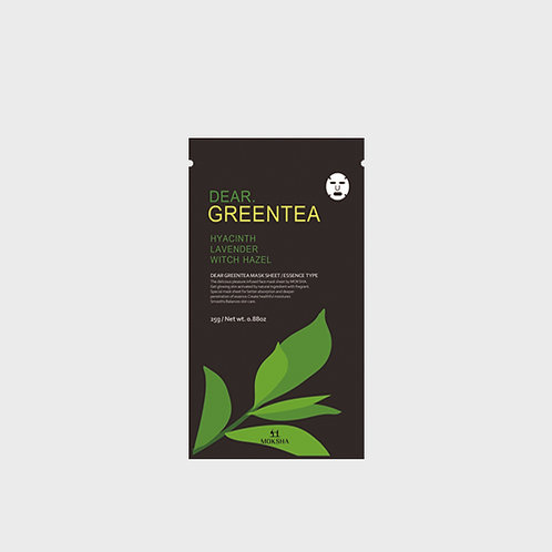 Dear.Greentea facial sheet mask 25g