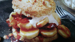 Banana Foster Sweet Biscuits