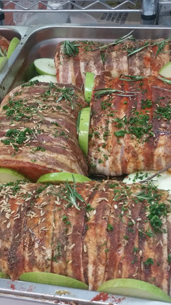 Bacon Wrapped Pork Lion