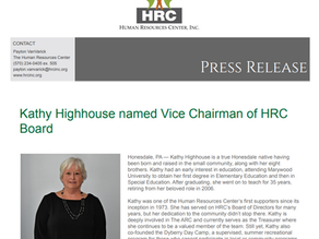 Kathy Highhouse named Vice Chairman of HRC Board