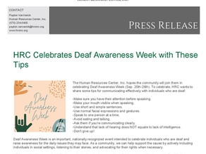 HRC Celebrates Deaf Awareness Week with These Tips