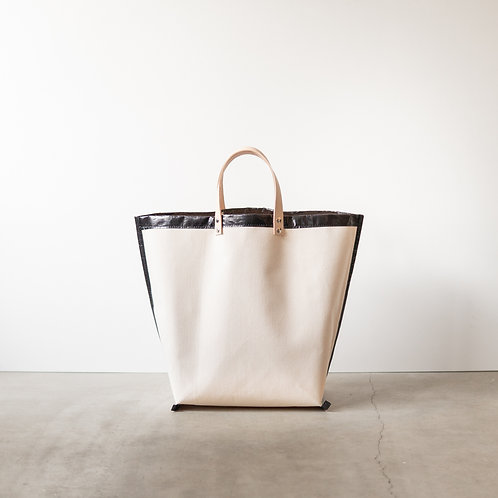 Canvas tote bag 3851 leather handle #1