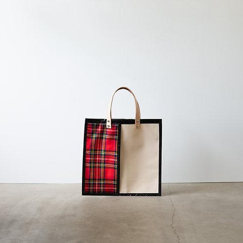 Canvas flat bag 3333 tartan check #1