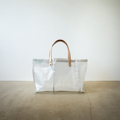 Ultralight tote bag 3345 leather handle #4 white