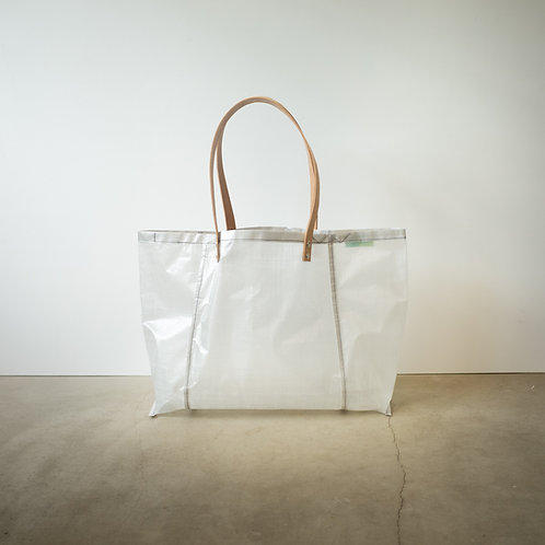 Ultralight tote bag 4055 leather handle #2 white