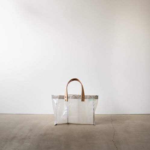 Ultralight tote bag 2535 leather handle #11 white