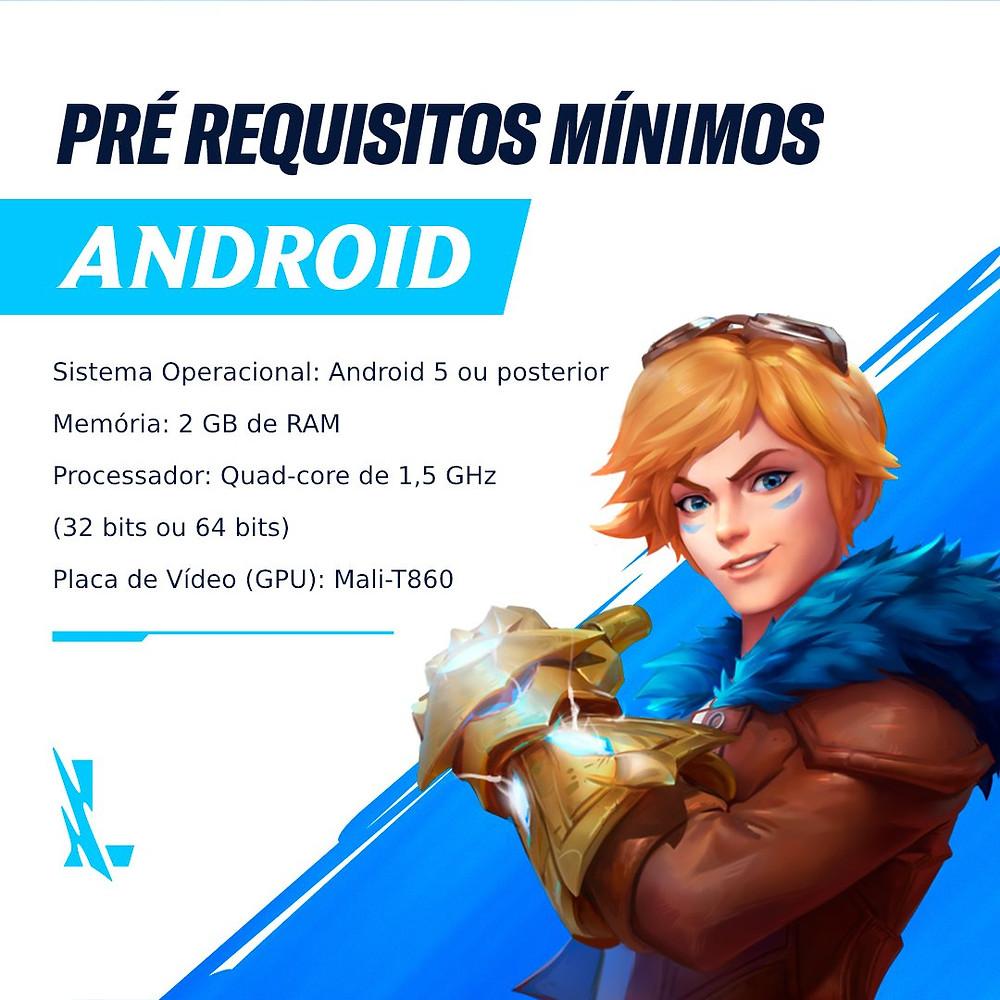 pré requisitos minimos wild rift android em qual celular roda