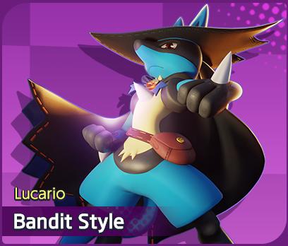 lucario bandit style skin pokémon unite moba de pokémon holowear pokelol