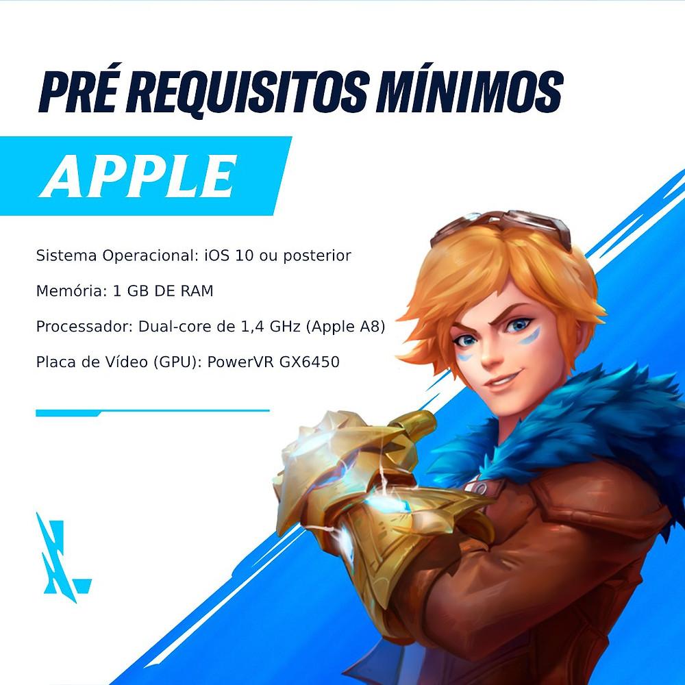 pré requisitos minimos wild rift apple ios em qual celular roda