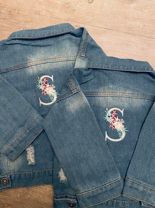 Floral Personalised Denim Jacket