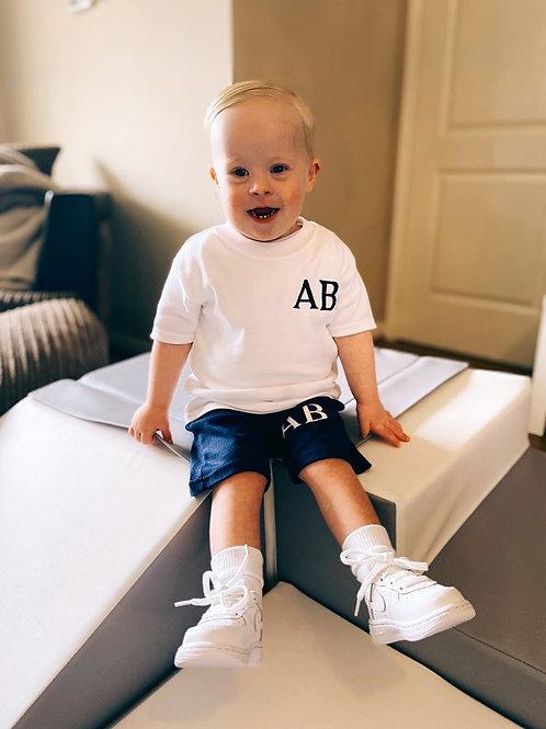 Personalised Navy Shorts & T-shirt Set
