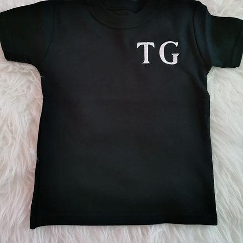 Personalised Black Shorts & T-shirt Set